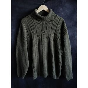 Northern Reflection Vintage Green Chunky Sweater L